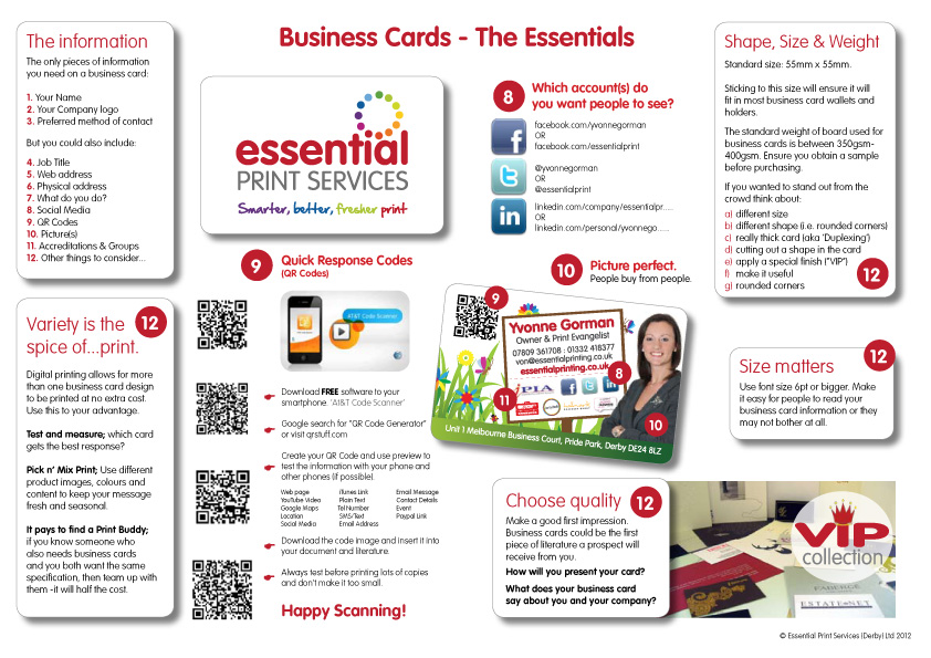 What you should include on your business cards for What to include on business card