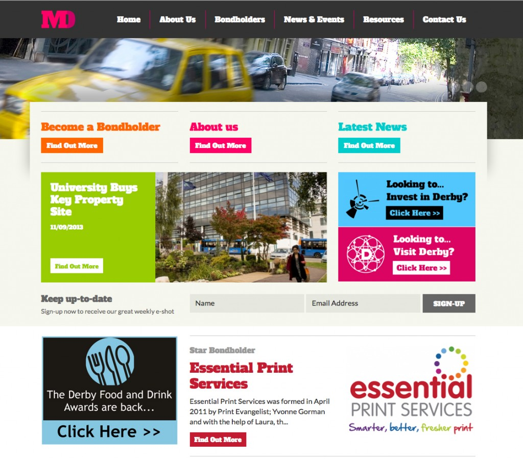 Essential Print Services Marketing Derby Website