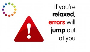 Errors will jump out at you