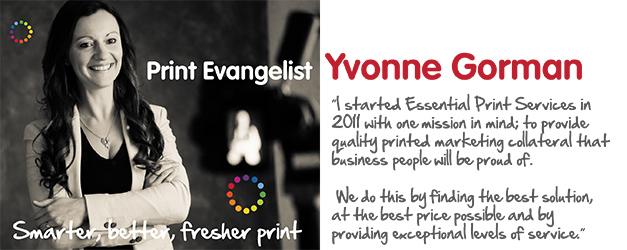 Print Evangelist Yvonne Gorman