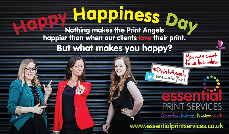The Print Angels Celebrate Happy Happiness Day
