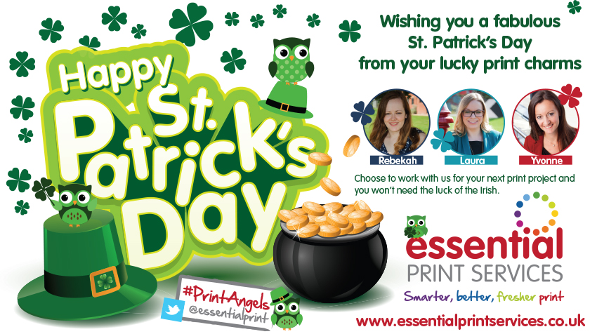 Happy St Patrick's Day from your lucky print charms