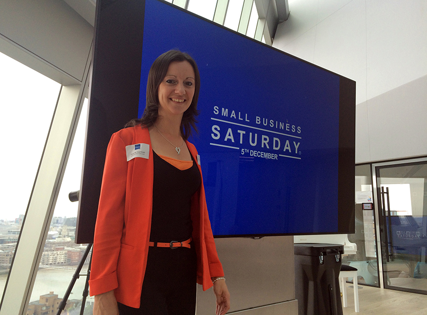 """Think Big, Shop Small"" says Yvonne Gorman, Owner of Essential Print Services and Small Business Saturday UK Champion"