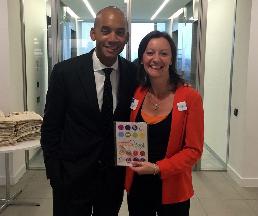 Shadow Business Secretary; Chuka Umunna with Yvonne Gorman