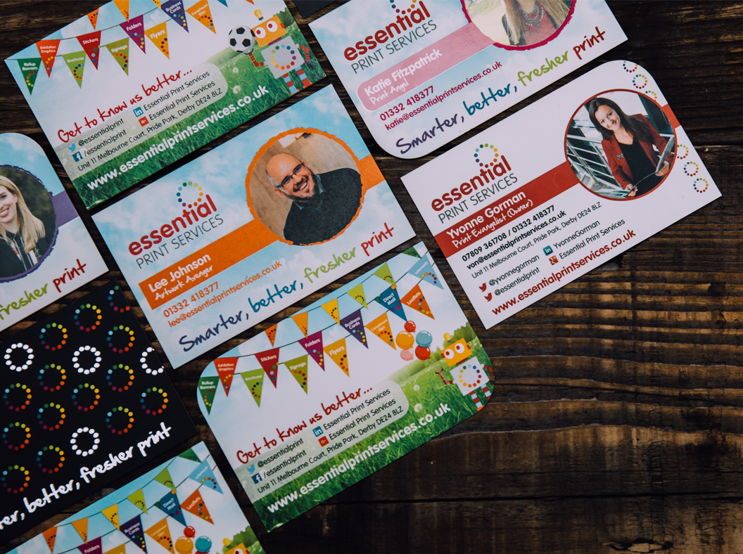 Essential printed marketing ideas essential print services printed business cards reheart Image collections