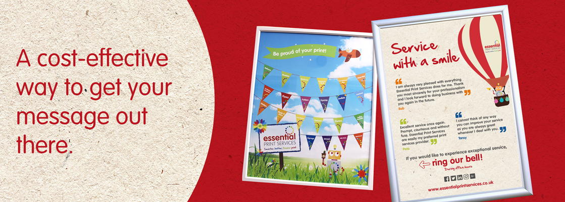 Postcard & Poster Printing, Derby : Essential Print Services